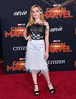 "LOS ANGELES, CA. March 04, 2019: Meg Donnelly at the world premiere of ""Captain Marvel"" at the El Capitan Theatre.<br /> Picture: Paul Smith/Featureflash"