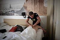 rest day massage at Team Mitchelton-Scott<br /> <br /> rest day 1<br /> 106th Tour de France 2019 (2.UWT)<br /> <br /> ©kramon