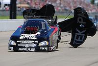 May 21, 2011; Topeka, KS, USA: NHRA funny car driver Dale Creasy Jr. during the Summer Nationals at Heartland Park Topeka. Mandatory Credit: Mark J. Rebilas-
