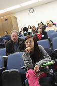 Kenwood Academy hosted a Generation All Speaker Series event Wednesday evening. The topic of the series was Equality and Urban School Improvement.<br /> <br /> 9565 &ndash; Xiao Lin Mei and Jeff Bartlow attended the event.