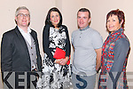 Judges Danny Leane and Kate Gallwey with best dressed lady Maura O'Donovan and best dressed man Sean Cronin at the 'Sport Stars on Catwalk for School Fashion' fundraising event in Darby O'Gills in Killarney last Saturday night with all funds raised going to Barraduff National School.
