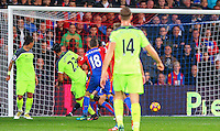 Emra Can scores for Liverpool during the EPL - Premier League match between Crystal Palace and Liverpool at Selhurst Park, London, England on 29 October 2016. Photo by Steve McCarthy.