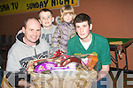 BAZAAR: The Ryle family from Ardfert who won a hamper at St John's Parish Bazaar on Saturday night in the KDYS Denny Street, Tralee. L-r: Pat,David and Casey Ryle and Kieran O'Sullivan(helper)....