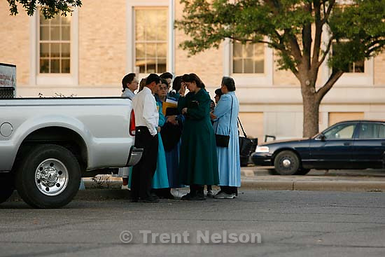San Angelo - a 14-day hearing at the 51st District (Tom Green County) Courthouse to decide the fate of 416 children removed in a raid from the FLDS Church's YFZ Ranch. Friday April 18, 2008.