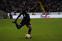 Almamy Touré (Eintracht Frankfurt) - 20.02.2020: Eintracht Frankfurt vs. RB Salzburg, UEFA Europa League, Hinspiel Round of 32, Commerzbank Arena DISCLAIMER: DFL regulations prohibit any use of photographs as image sequences and/or quasi-video.