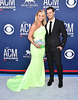 LAS VEGAS, CA - APRIL 07: Miranda Lambert (L) and Brendan McLoughlin attend the 54th Academy Of Country Music Awards at MGM Grand Hotel &amp; Casino on April 07, 2019 in Las Vegas, Nevada.<br /> CAP/ROT/TM<br /> &copy;TM/ROT/Capital Pictures