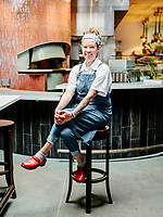 Chef Carrie Bard at Bar Dough Restaurant in Denver, Colorado, Tuesday, August 28, 2018.<br /> <br /> Photo by Matt Nager