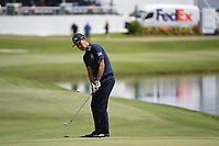 Kevin Na (USA) chips on to 18 during round 1 of the WGC FedEx St. Jude Invitational, TPC Southwind, Memphis, Tennessee, USA. 7/25/2019.<br /> Picture Ken Murray / Golffile.ie<br /> <br /> All photo usage must carry mandatory copyright credit (© Golffile | Ken Murray)