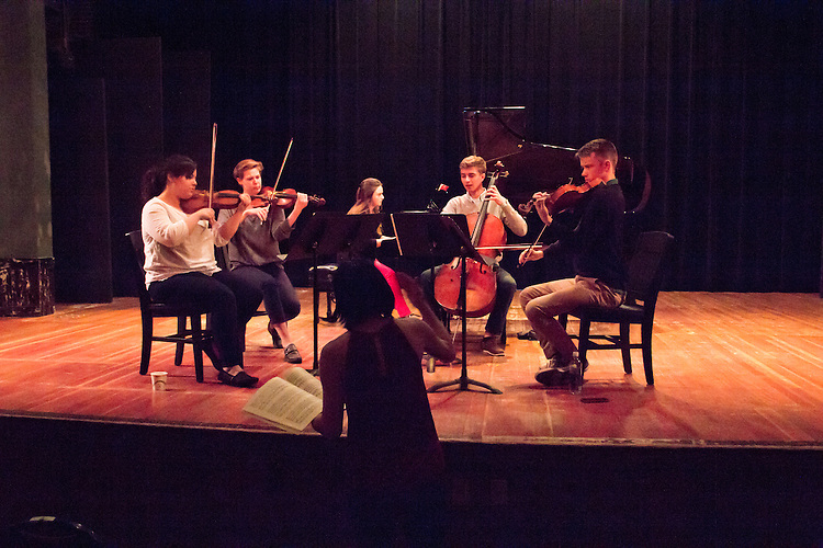 Port Townsend, Centrum, Chamber Music Workshop, June 16-21 2015, Fort Worden, Wheeler Theater, Enso Quartet, violinist Maureen Nelson teaching workshop artists, Azalea Quartet
