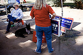 TUCSON, ARIZONA, USA, 20/10/2016:<br /> Supporters of Donald Trump  campaigning at the fair near Tucson AZ.Arizona has become a swing state with both main candidates equally scoring in polls. (Photo by Piotr Malecki / Napo Images)