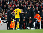 Atletico's Diego Simeone gets sent off during the Europa League Semi Final 1st Leg, match at the Emirates Stadium, London. Picture date: 26th April 2018. Picture credit should read: David Klein/Sportimage