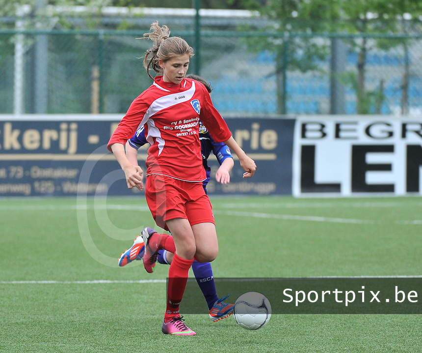 AA Gent Ladies U16 - RSC Anderlecht : Marie Minnaert.foto DAVID CATRY / Nikonpro.be