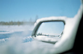 SWEDEN, Frozen Car Mirror Crossing Swedish Lapland From Lulea To Kirkenes