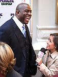 "Magic Johnson pictured at the ""Magic/Bird"" Opening Night Arrivals at the Longacre Theatre in New York City on April 11, 2012 © Walter McBride / WM Photography  Ltd."