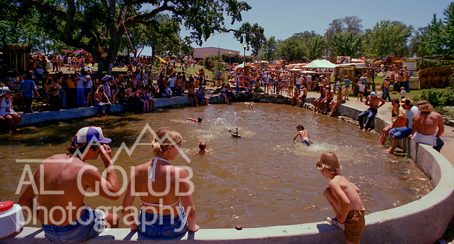 Second annual Mountain Aire Renaissance Fair and Musical festival produced by Rock'n Chair Productions.  People came from all over Northern California to see and hear Boz Skaggs, Jesse Colin Young, Peter Frampton and Kingfish on June 15, 1975 at the Calaveras County Fairground near Angle Camp California.  Photo by Al Golub