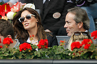 Spanish actress Mar Saura with her husband Javier Revuelta del Peral, president of the Royal Spanish Equestrian Federation, during Madrid Open Tennis 2016 match.May, 6, 2016.(ALTERPHOTOS/Acero) /NortePhoto