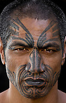 The Maori , the indigenous Polynesian people of New Zealand, are renowned for their distinctive tattoos, also known as moko. The curvilinear tattoos, which are richly symbolic, are facial because in traditional Maori culture the head is the most sacred part of the body.