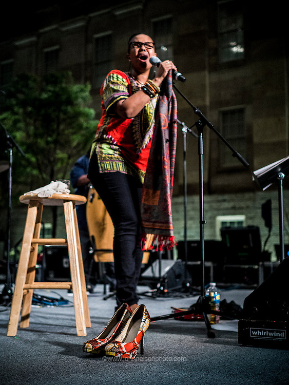 Vocalist Akua Allrich & The Tribe perform songs written or performed by Oscar Brown Jr., Leonard Cohen, Elizabeth Cotton, Joni Mitchell, Lead Belly, Nina Simone, and Miriam Makeba, among others, as well as some of her own compositions.