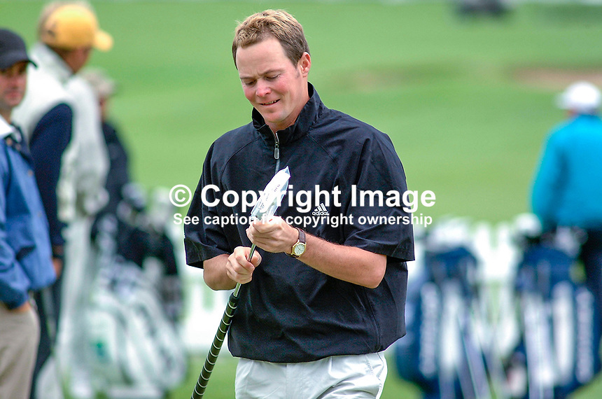 David Carter, professional golfer, England. Picture taken during practice for the Smurfit European Golf Championship at the K Club, Co Kildare, Rep of Ireland. Ref: 200207025806...Copyright Image from Victor Patterson, 54 Dorchester Park, Belfast, UK, BT9 6RJ..Tel: +44 28 9066 1296.Mob: +44 7802 353836.Voicemail +44 20 8816 7153.Skype: victorpattersonbelfast.Email: victorpatterson@mac.com.Email: victorpatterson@ireland.com (back-up)..IMPORTANT: If you wish to use this image or any other of my images please go to www.victorpatterson.com and click on the Terms & Conditions. Then contact me by email or phone with the reference number(s) of the image(s) concerned.