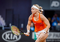The Hague, The Netherlands, Februari 7, 2020,    Sportcampus, FedCup  Netherlands -  Balarus,  Kiki Bertens (NED)<br /> Photo: Tennisimages/Henk Koster