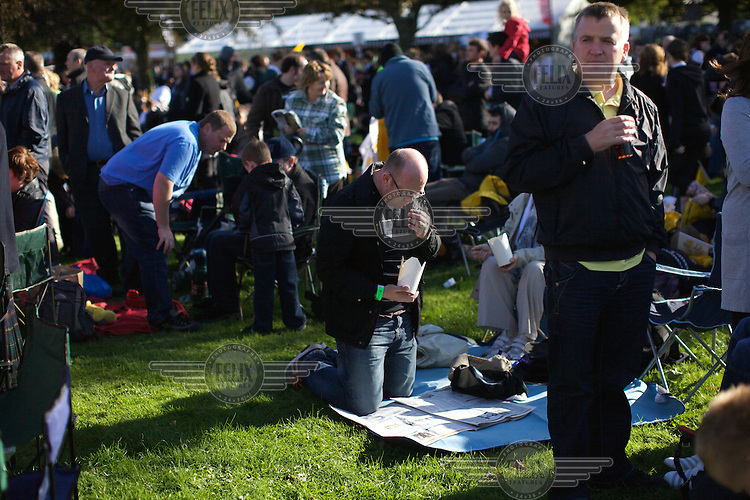 Around 70,000 people celebrate open-air mass at Bellahouston park, Glasgow for the visiting Pope Benedicte XVI on the first state visit to Scotland...