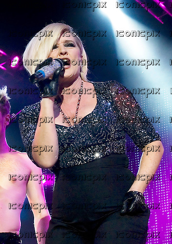 The Nolans - Bernie Nolan - performing live at the Echo Arena in Liverpool UK - 24 Oct 2009.  Photo credit: Sakura Henderson/IconicPix