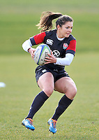 Guildford, England. England Women Sevens in training for Sevens World Series in round three in Atlanta, USA. Surrey Sports Park on March 5, 2015 in Guildford, England.
