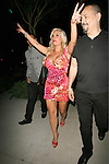 June 7th 2012   Thursday night ....ICE-T leaving Mastro?s restaurant in Beverly Hills with his wife Coco Austin. Coco was showing off major cleavage in a tight red leopard print dress skirt. Coco was carrying a big huge black purse handbag throwing up her hands giving out the Richard Nixon double peace sign ...AbilityFilms@yahoo.com.805-427-3519.www.AbilityFilms.com