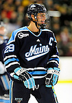 29 January 2010: University of Maine Black Bears' forward Tanner House, a Junior from Cochrane, Alberta, in second period action against the University of Vermont Catamounts at Gutterson Fieldhouse in Burlington, Vermont. The Black Bears defeated the Catamounts 6-3 in the first game of their America East weekend series. Mandatory Credit: Ed Wolfstein Photo