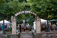 Basin Spring Park in Historic Eureka Springs Arkansas.