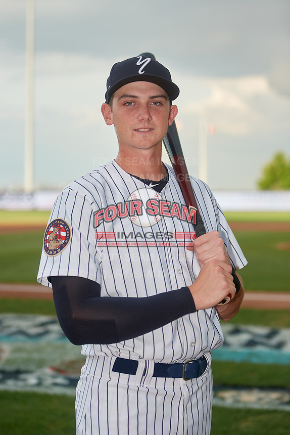Staten Island Yankees Jacob Sanford (18) poses for a photo before a NY-Penn League game against the Aberdeen Ironbirds on August 22, 2019 at Richmond County Bank Ballpark in Staten Island, New York.  Aberdeen defeated Staten Island in a rain shortened game.  (Mike Janes/Four Seam Images)