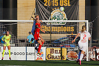 Rochester, NY - Friday June 17, 2016: Western New York Flash midfielder Makenzy Doniak (3),Western New York Flash goalkeeper Britt Eckerstrom (28), Portland Thorns FC midfielder Dagny Brynjarsdottir (11) during a regular season National Women's Soccer League (NWSL) match between the Western New York Flash and the Portland Thorns FC at Rochester Rhinos Stadium.