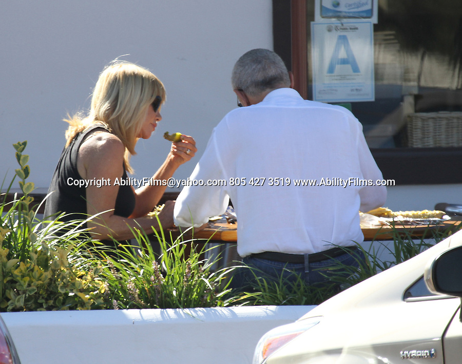 September 14th 2012    Exclusive <br /> <br /> Suzanne Somers eating ice cream &amp; Mexican food chips nachos chili's etc drinking a coke with her husband Alan Hamel in Malibu California . The couple also got ice cream next door<br /> <br /> AbilityFilms@yahoo.com<br /> 805 427 3519<br /> www.AbilityFilms.com