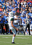 October 22, 2016 - Colorado Springs, Colorado, U.S. -   Hawaii punter, Rigoberto Sanchez #1, during the NCAA Football game between the University of Hawaii Rainbow Warriors and the Air Force Academy Falcons, Falcon Stadium, U.S. Air Force Academy, Colorado Springs, Colorado.  Hawaii defeats Air Force in double overtime 43-27.