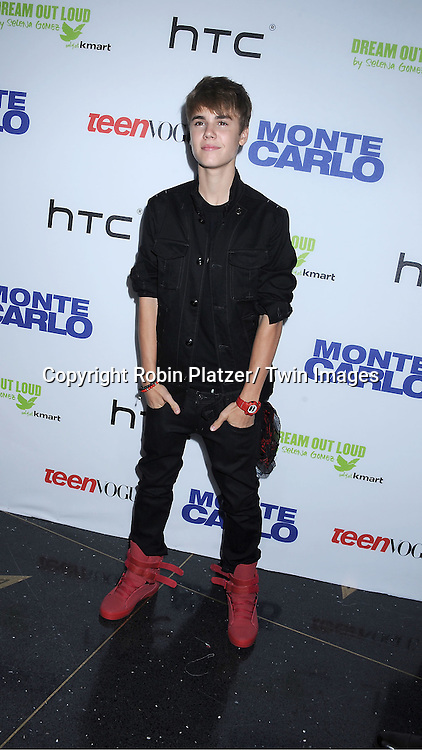 "Justin Bieber attending The TEEN VOGUE Red Carpet Premiere Event Screening of "" Monte Carlo"" starring Selena Gomez, Katie Cassidy and Andie MacDowell on June 23, 2011 at The Loews Lincoln Square Theatre in New York City."