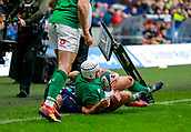 9th February 2019, Murrayfield Stadium, Edinburgh, Scotland; Guinness Six Nations Rugby Championship, Scotland versus Ireland; Rory Best (Ireland Captain) grounds the ball over his own line to prevent Scotland scoring