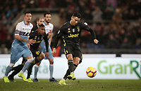 Football, Serie A: S.S. Lazio - Juventus, Olympic stadium, Rome, January 27, 2019. <br /> Juventus' Cristiano Ronaldo kicks a penalty and scores during the Italian Serie A football match between S.S. Lazio and Juventus at Rome's Olympic stadium, Rome on January 27, 2019.<br /> UPDATE IMAGES PRESS/Isabella Bonotto