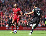 Liverpool's Joel Matip in action during the premier league match at the Anfield Stadium, Liverpool. Picture date 19th August 2017. Picture credit should read: David Klein/Sportimage