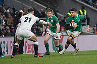 Twickenham, United Kingdom.   Natwest 6 Nations : England vs Ireland. Conor MURRAY, supported by Kieran MARMION, running with the ball, at the  RFU Stadium, Twickenham, England, <br />