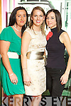 Catriona O'Callaghan, Jill Duggan and Lisa Tankred, Killarney at the Designer Salon Show during Kerry Fashion Weekend in the The Ross Hotel, Killarney, on Saturday night.
