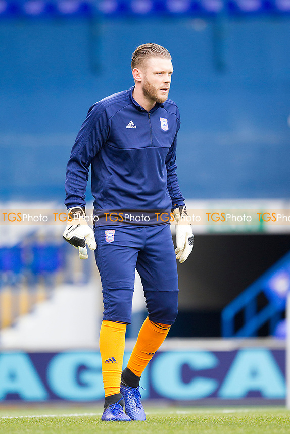 Dean Gerken of Ipswich Town pre match warming up during Ipswich Town vs Rotherham United, Sky Bet EFL Championship Football at Portman Road on 12th January 2019