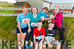 Ready to run for fun in the Banna 10k on Sunday morning.<br /> Front: James and Eoin Curley, <br /> Back l to r: Dermuid and Sinead Curley, Josh Ennis with Hillary Tobin and Fluffy the dog.