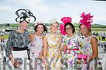 Enjoying the Listowel Races Ladies Day on Sunday were l-r  Jean Leahy, Abbeyfeale, Mary Wolfe, Athea, Ann Marie O'Connor, Abbeyfeale, Cathy Troth, Killarney and Siobhan Kennedy, Tournafulla.