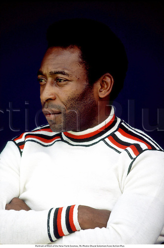 Portrait of PELE of the New York Cosmos, 76. Photo: Chuck Solomon/Icon/Action Plus<br />