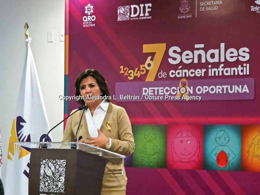 Querétaro, Qro. 15 de febrero 2016. En conjunto con el sistema estatal DIF, la Fundación Teletón lanza hoy la campaña 7 señales de cáncer infantil, la cual tiene el propósito de hacer conciencia sobre la importancia de detectar oportunamente el cáncer en menores de edad. Foto: Alejandra L. Beltrán / Obture Press Agency
