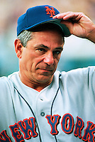 New York Mets Manager Bobby Valentine participates in a Major League Baseball game at Dodger Stadium during the 1998 season in Los Angeles, California. (Larry Goren/Four Seam Images)