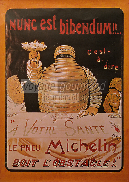 Europe/France/Auvergne/63/Puy-de-Dôme/Clermont-Ferrand : Anciennes publicités pour Michelin [Non destiné à un usage publicitaire - Not intended for an advertising use]
