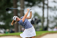 Jennifer Kupcho (USA) on the 3rd during the final  round at the Augusta National Womans Amateur 2019, Augusta National, Augusta, Georgia, USA. 06/04/2019.<br /> Picture Fran Caffrey / Golffile.ie<br /> <br /> All photo usage must carry mandatory copyright credit (© Golffile | Fran Caffrey)