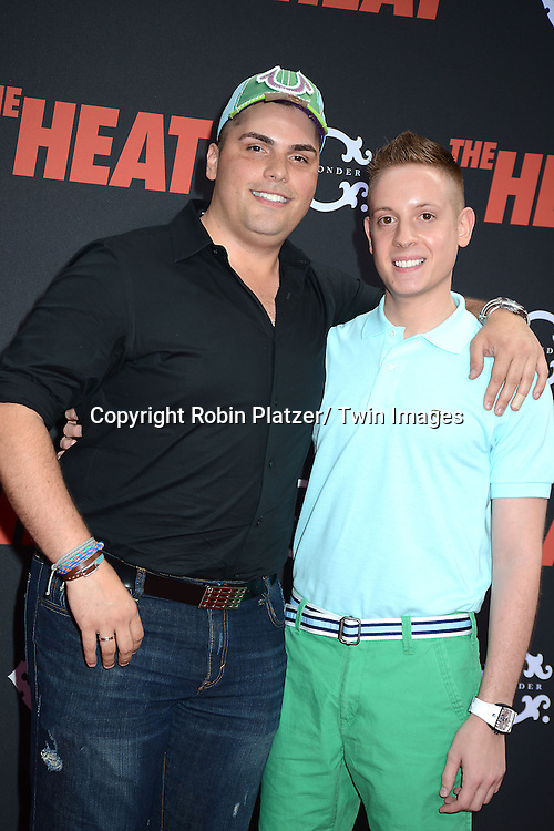 """Eddie Going and Nick DiSanto of """"Going With Eddie"""" on NBC attends the New York Premiere of """"The Heat"""" on June 23,2013 at the Ziegfeld Theatre in New York City. The movie stars Sandra Bullock, Melissa McCarthy, Demian Bichir, Marlon Wayans, Joey McIntyre, Jessica Chaffin, Jamie Denbo, Nate Corddry, Steve Bannos, Spoken Reasons and Adam Ray."""
