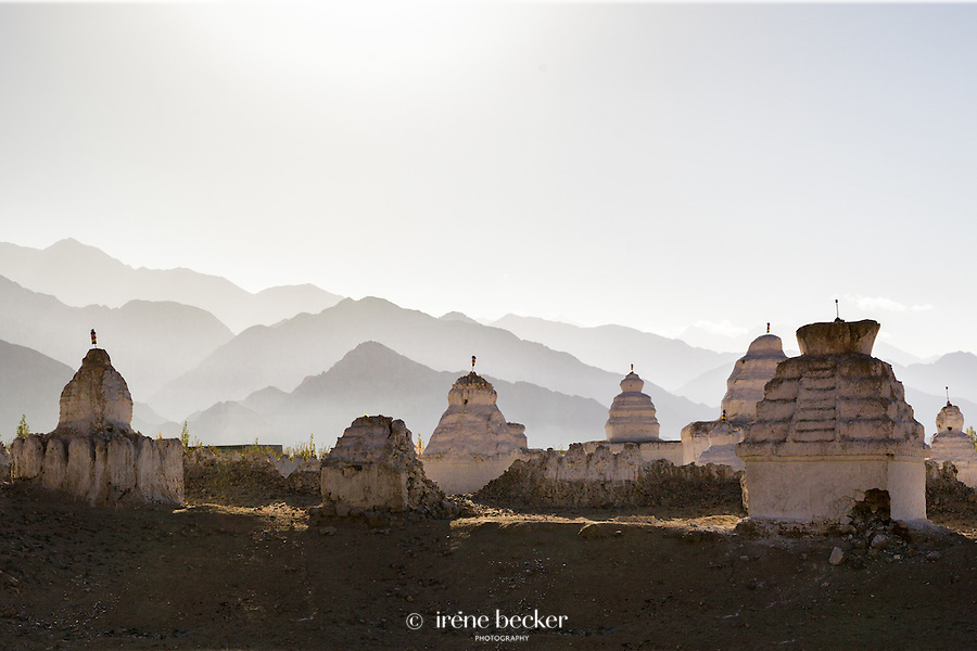 Shey Chorten Field, Shey,  Jammu and Kashmir, India. The largest chorten field in Ladakh.